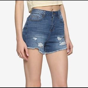 Hot Topic High Waisted Distressed Jean Shorts
